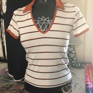 Forever 21 Tops - Striped collared cute shirt